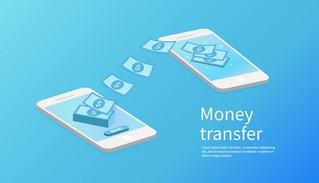 Transferência de dinheiro móvel.