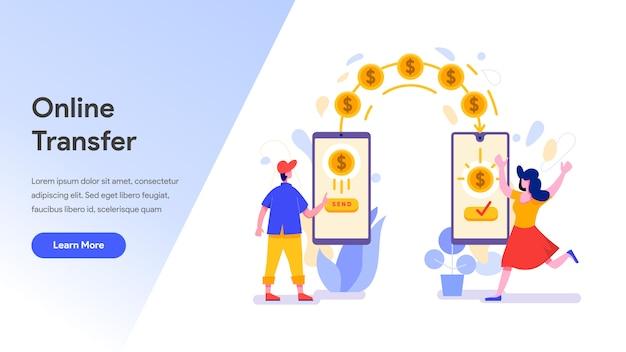 Transferência de dinheiro online com telefone celular