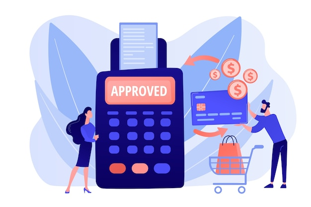 Transferência de dinheiro. serviços financeiros. terminal pos. compras online