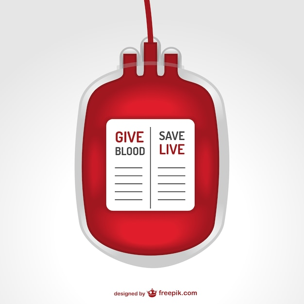 Transfusão de sangue saco ilustração