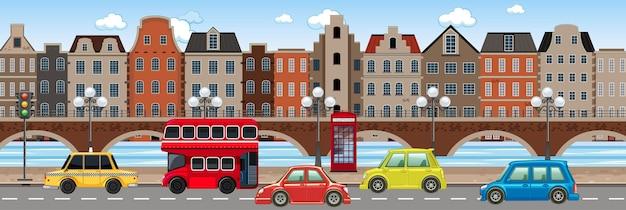 Trânsito na cena da cidade