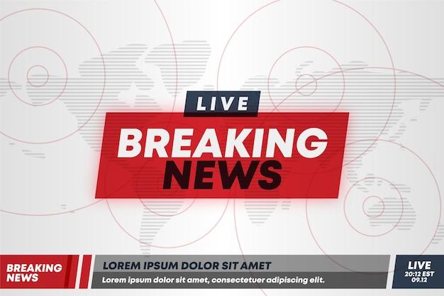 Transmissão ao vivo de notícias de última hora