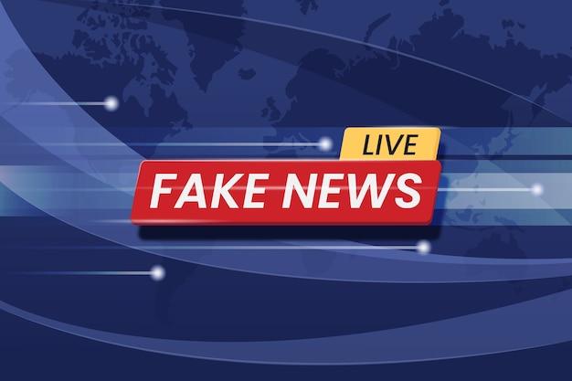 Transmissão ao vivo de notícias falsas
