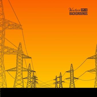 Transmissão de energia elétrica.