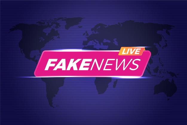 Transmissão de notícias falsas ao vivo