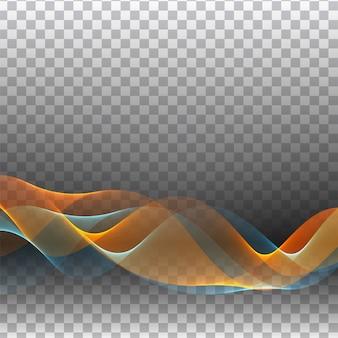 Transparente elegante de onda colorida