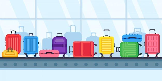 Transportador de esteira de bagagem