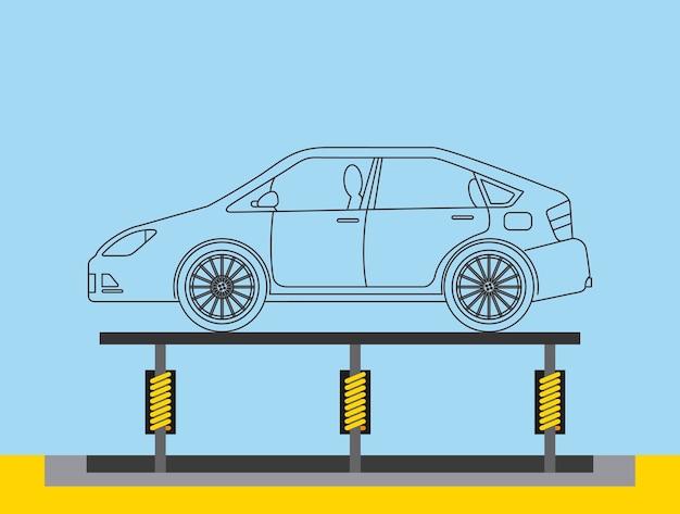 Transportador de produção de carroceria automotiva