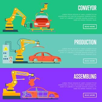 Transportador para montagem de conceito de carros