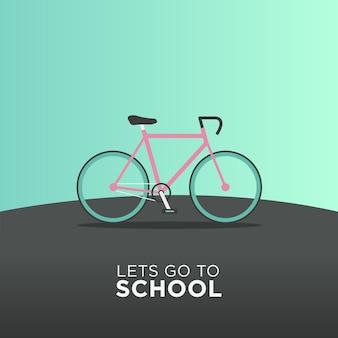 Transporte de bicicleta de volta à escola