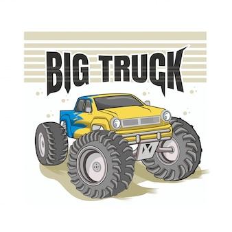 Transporte de caminhão grande monstro