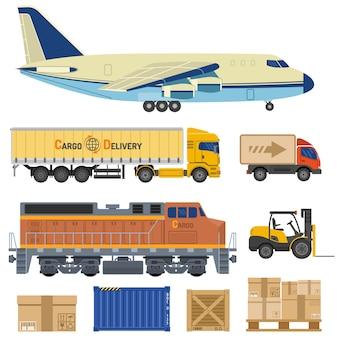 Transporte de carga e embalagem