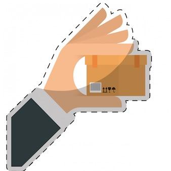 Transporte de carga ou manipulação de imagem de ícones relacionados