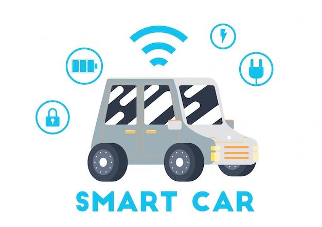 Transporte de carro elétrico inteligente bonito