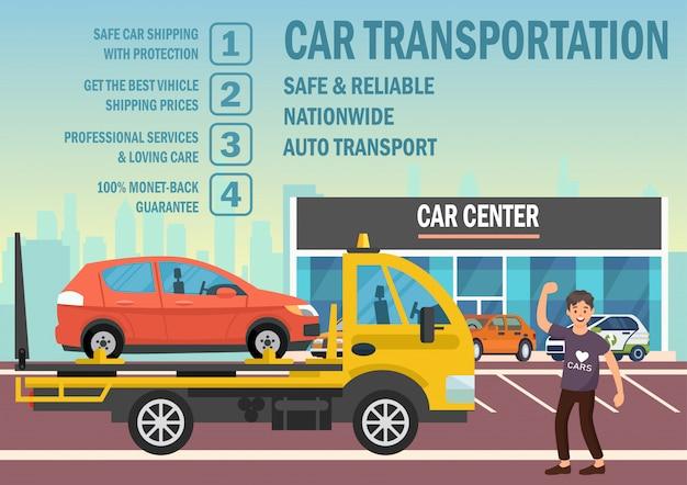 Transporte de carro. ilustração em vetor plana.