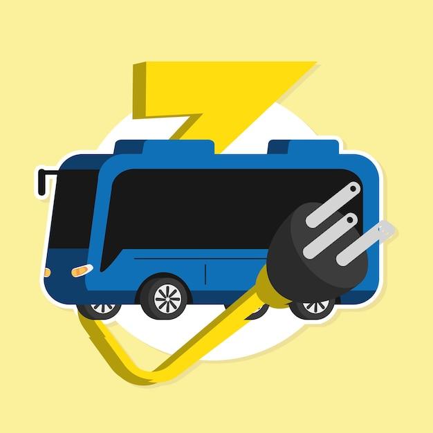 Transporte de ônibus elétrico