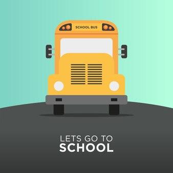 Transporte de ônibus escolar de volta à escola