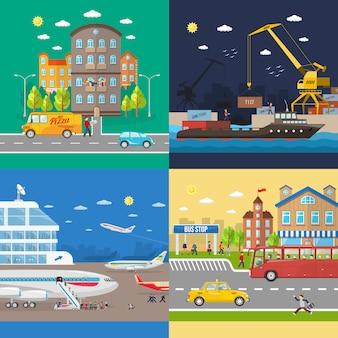 Transporte de passageiros e entrega de mercadorias