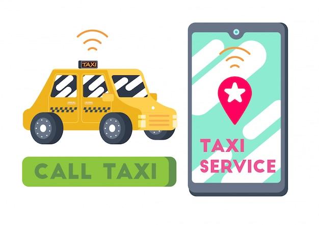Transporte de táxi de táxi inteligente bonito