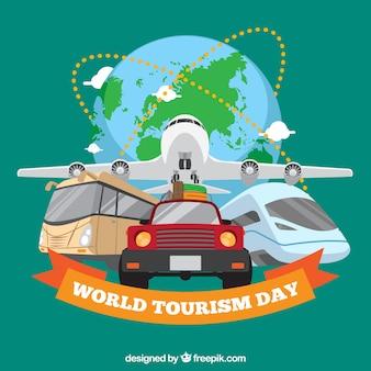 Transporte de viagens, dia do turismo mundial