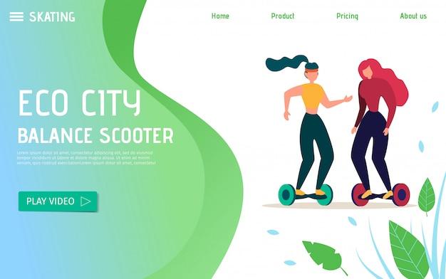 Transporte ecológico para transporte urbano e promoção recreativa