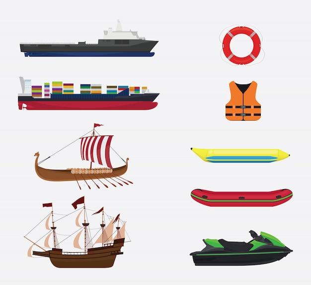 Transporte em coleta de mar ou água