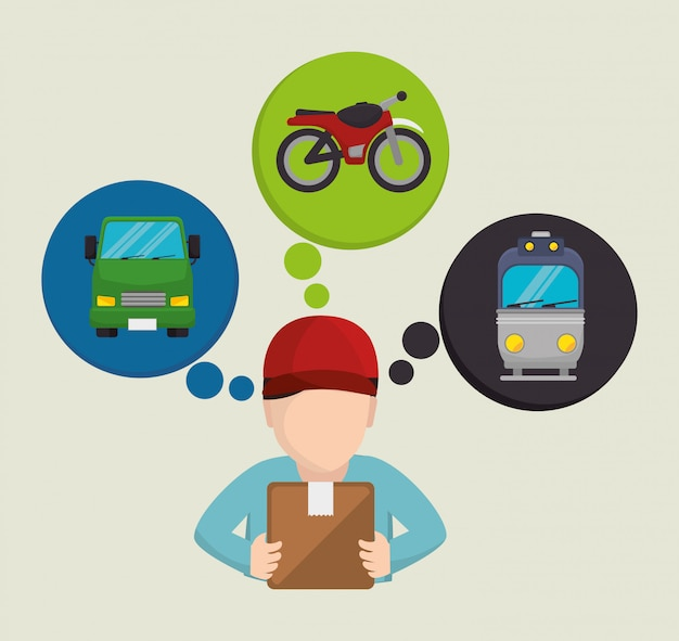 Transporte, entrega e envio
