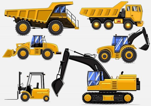 Transporte industrial amarelo