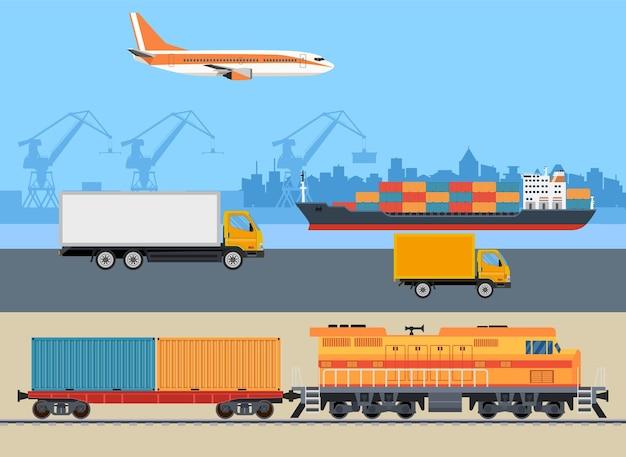 Transporte logístico de carga.