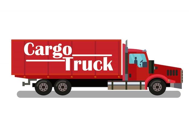 Transporte por caminhão de carga, ilustração de transporte