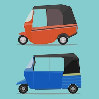 Transporte público bajaj, táxi bajai indonésia, veículo na tailândia