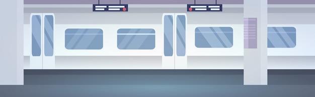 Transporte público moderno sem trem plataforma subterrânea de pessoas na estação de metrô horizontal