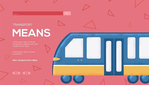 Transporte significa folheto de conceito, banner da web, cabeçalho da interface do usuário, insira o site. .