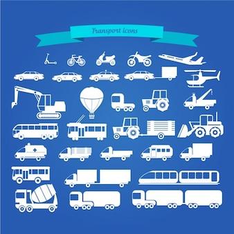 Transportes coleção ícone