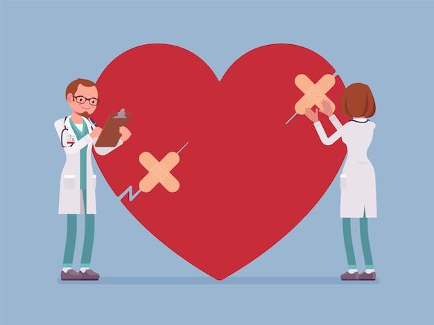 Tratamento cardíaco por médicos