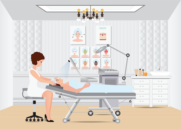 Tratamento de massagem facial spa.