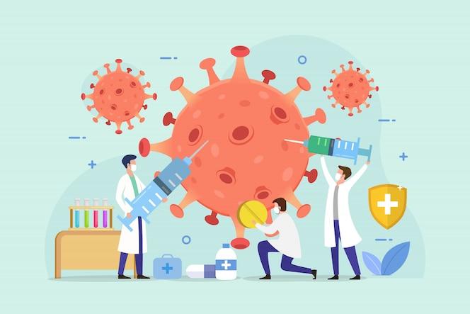 Tratamento do conceito de design de pacientes com coronavírus