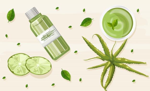 Tratamento orgânico de aloe vera
