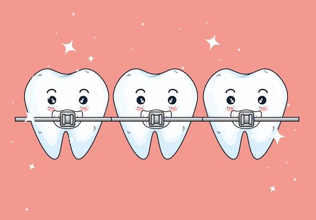 Tratamento ortodontista de dentes na assistência odontológica