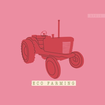 Trator agrícola ou colheitadeira equipamento típico para complexos agrícolas ecológicos