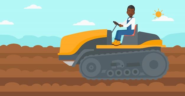 Trator de condução do agricultor.