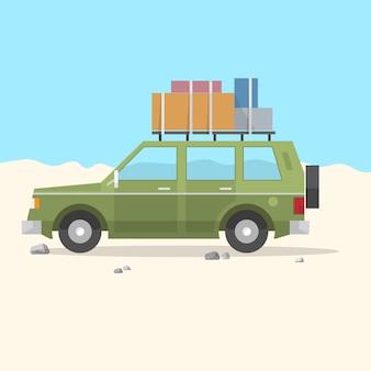 Travel car suv - viagem por estrada