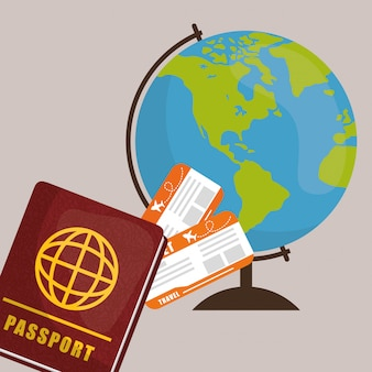 Travel icon, ilustração vetorial