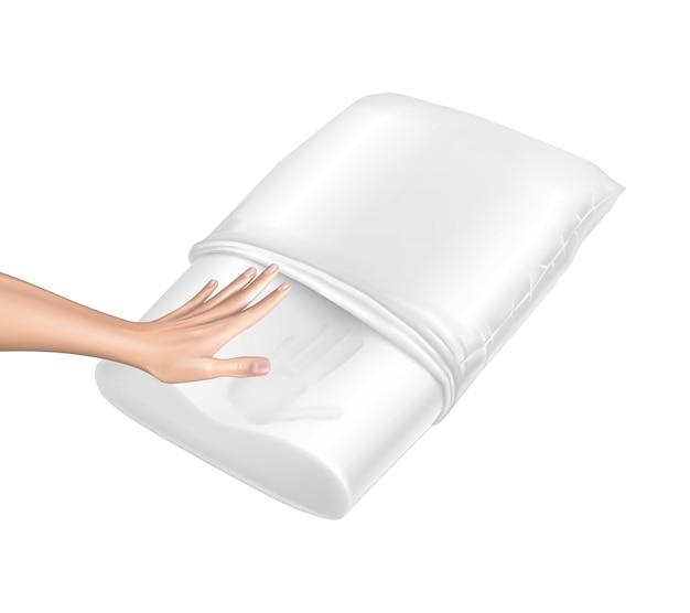 Travesseiro 3d realista com efeito de memória