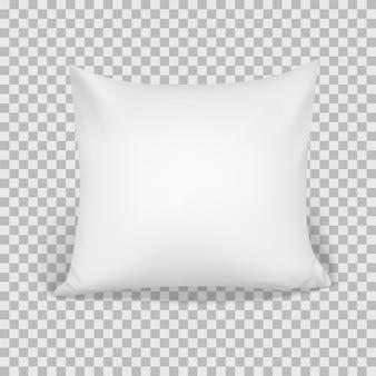 Travesseiro branco realista 3d