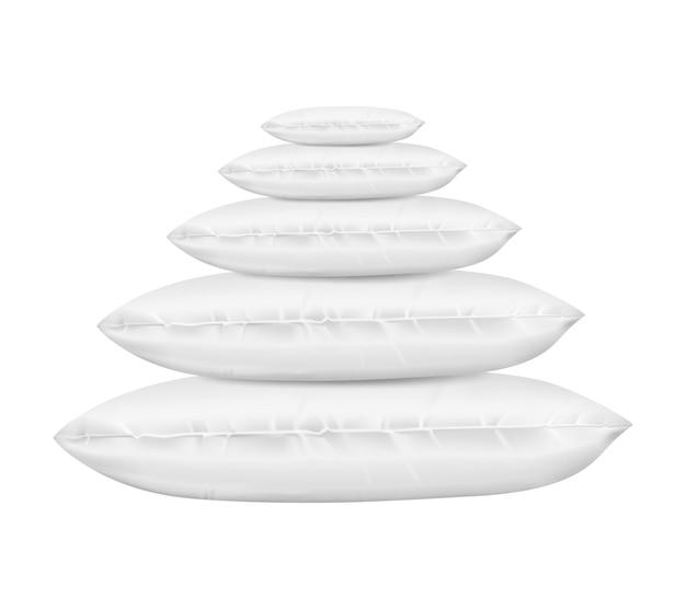 Travesseiros 3d realistas definido para relaxamento
