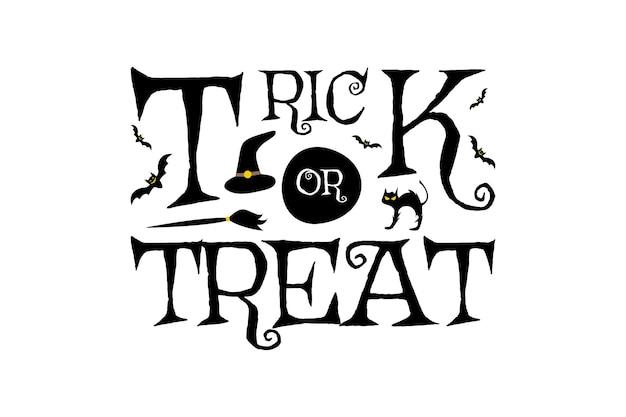 Travessuras ou gostosuras ilustração de horror de festa de halloween, evento, noite, celebração