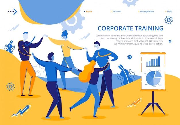 Treinamento corporativo para funcionários da empresa do grupo