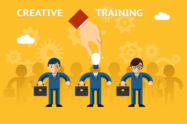 Treinamento criativo. educação empresarial, criatividade de ideias