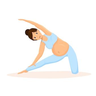 Treinamento da ioga da gravidez